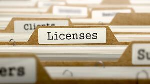 Business file holding licenses