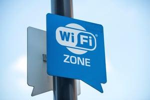 Public WIFI sign