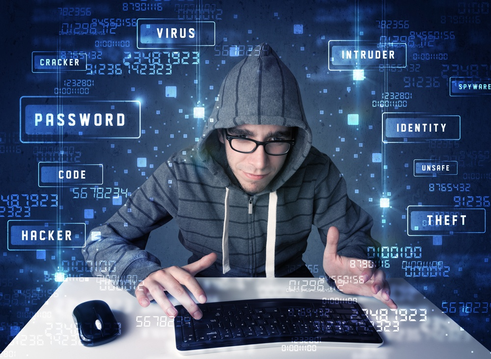 A cyber criminal looking into the network of a victim.